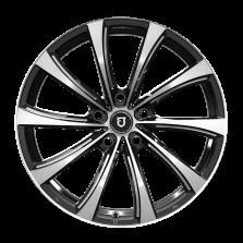 【9折 四只套装】丰途/FT503 20寸 低压铸造轮毂 孔距5X120 ET30黑色车亮铣肋