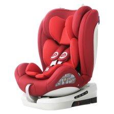 路途乐路路熊AIR V 0-12岁儿童汽车安全座椅 isofix硬接口 360°旋转【雅典红】