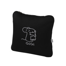 GIGI G-1070(A、E、U)车用护腰靠 大抱枕被子两用 【黑色】
