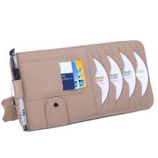YOOCAR 多功能车用光盘包 真皮遮阳板CD夹【米色 Y-134】