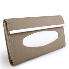 YOOCAR 抽纸遮阳板挂式 真皮纸巾盒【米色】【多色可选】