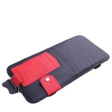 YOOCAR 多功能车用光盘包 真皮遮阳板CD夹【黑红色 Y-134】