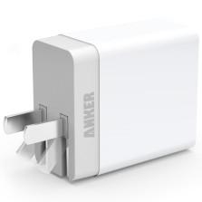 Anker 71AN7109系列 20W 双USB多口充电器头快充插头 【白色】