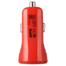 倍思 充动系列 车载充电器点烟器插头双usb型2A车充一拖二【红色】CCALL-CR09