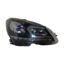 台湾秀山 大灯 奔驰C级 W204【11-14款】双光大灯  双光透镜带LED光纤和LED光条