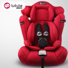路途乐 儿童汽车安全座椅9个月-12岁 ISOFIX接口 3C认证 路路熊C【贵族红】