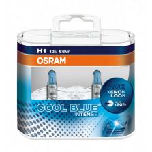 欧司朗/OSRAM 酷蓝二代 H1 12V 55W 升级型卤素灯 4200K 64150CBI【双只】暖白光