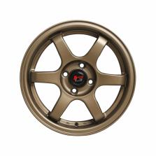 丰途/华固HG2662 15寸 低压铸造轮毂 孔距4X100 ET38消光古铜
