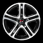 【四只套装】丰途/华固HG2563 16寸 低压铸造轮毂 孔距5X114.3 ET42黑色车亮
