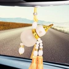 传枫汽车用香水挂件 车内挂饰品吊坠仿水晶葫芦(颜色随机)