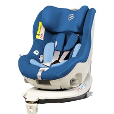宝贝第一 企鹅萌军团 0-4岁 360°旋转 带isofix婴儿安全座椅(深海蓝)