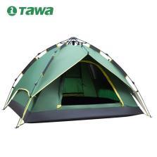 TAWA 全自动帐篷 户外3-4人露营防雨家庭野营【军绿色】140420