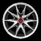 【四只套装】丰途/华固HG2562 14寸 低压铸造轮毂 孔距5X100 ET35黑色车亮