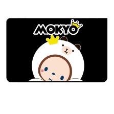 皇冠猴MOKYO 磁吸防晒遮阳帘 正版授权卡通遮光布【C黑白猴-后排侧窗单片】