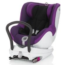 宝得适/Britax 双面骑士Dualfix 儿童安全座椅 isofix  0-4周岁(闪耀紫)
