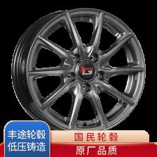 丰途/华固HG1276 14寸 低压铸造轮毂 孔距5X100 ET35银灰色涂装 原厂精品轮毂