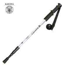 狼牙 户外直柄登山杖 三节铝合金手杖 登山雨雪必备 白色 LY-80116