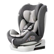 路途乐路路熊AIR V 0-12岁儿童汽车安全座椅 isofix硬接口 360°旋转【卢克灰】