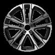 【买3送1 四只套装】丰途严选/HG0366 17寸 高尔夫/朗逸/速腾原厂款轮毂 孔距5X112 ET49黑色车亮