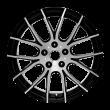 【新品 4只套装】丰途/华固HG7139 18寸 低压铸造轮毂 孔距5X114.3 ET45黑色车亮 日产逍客/奇骏原厂款精品轮毂