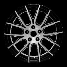 【买3送1 四只套装】丰途/华固HG7139 18寸 低压铸造轮毂 孔距5X114.3 ET45黑色车亮(附赠轮毂盖)
