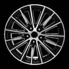 【买3送1 四只套装】丰途/华固HG5817 17寸 低压铸造轮毂 孔距5X114.3 ET45黑色车亮(附赠轮毂盖)