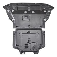 05-19款奥迪A6L 钜甲 发动机下护板 车底防护板 锰钢专用发动机护板【3D锰钢下护板1.5mm】 (2件套 发动机+变速箱)