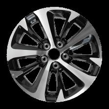 【7折清仓 四只套装】丰途严选/HG0512 17寸 丰田RAV4原厂款轮毂 孔距5X114.3 ET39黑色车亮