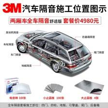3M两厢车全车隔音舒适版 (10张棉TC3303 ,4张减震板 80x48cm ,100张减震板15x10cm)