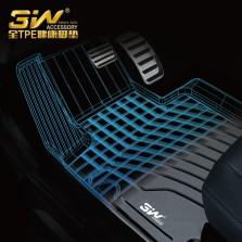 3W 全TPE脚垫奥迪A3 A4L A6L Q3 Q5 Q5L Q7专车专用无异味健康脚垫【Q7黑色】