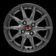 热销款 丰途/华固HG1276 14寸 低压铸造轮毂 孔距4X100 ET40银灰色涂装 原厂精品轮毂