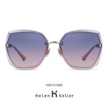 海伦凯勒墨镜女2020年新款太阳镜女圆脸高圆圆同款韩版潮大框眼镜偏光墨镜 H8918N08玫瑰金框+晚霞色