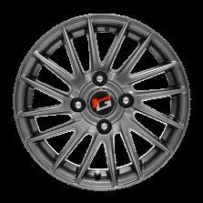 【四只套装 仅335元/只】丰途/华固HG8324 15寸 低压铸造 原厂精品轮毂 孔距4X114.3 ET40银灰色涂装