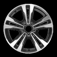 丰途严选/HG0551 17寸 奔驰C级原厂款轮毂 孔距5X112 ET48.5黑色车亮