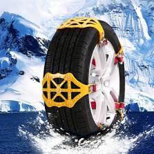 创讯汽车轮胎雪地防滑链条小轿车越野车suv通用型脱困神器自动收紧6支装