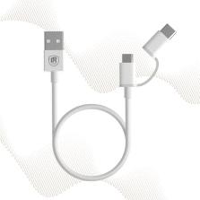途虎王牌 二合一数据线Micro USB转Type-c(1m)