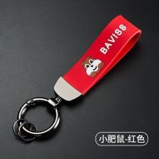 汽车钥匙扣男士使用钥匙扣防丢个性钥匙圈套网红女钥匙链高档简约   小肥鼠红色-高档钥匙扣-送防丢号码牌