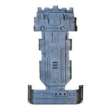 域虎5/7/9 钜甲 发动机下护板 车底防护板 锰钢专用发动机护板【3D锰钢下护板1.5mm】 (3件套 发动机+变速箱+水箱)