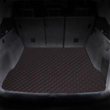 御马(yuma)车佰仕皮革后备箱垫专车定制 红黑色
