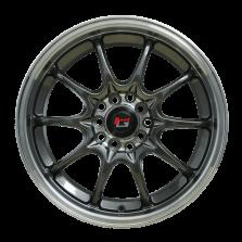 丰途/华固HG2161 16寸 低压铸造轮毂 孔距5X114.3/5X105 ET40枪灰色+车边+车中心盘+灰色透明漆