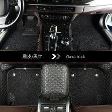 御马(yuma)360航空软包全包围丝圈汽车脚垫 专车专用 五座  各车均可定制 下单请备注车型年款 黑色皮革+黑色丝圈