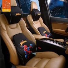 GiGi漫威Marvel汽车头枕腰靠复仇者联盟4卡通记忆棉护颈枕护腰垫 蜘蛛侠套装