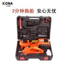 科纳KONA(豪华版)Model:ZSTT01  ZSTT02 DC 12V 5T  45cm多功能电动液压千斤顶(内置充气泵)&电动扳手套装+
