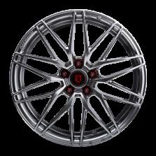 丰途/FR159 18寸 旋压铸造轮毂 孔距5X108 ET40电镀银 (图中锻造螺栓螺母不作为附赠品!如需购买,请联系客服!)