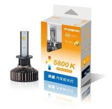日本凤凰/PHOENIX/飞尼科斯 汽车LED大灯 X5 改装替换 H1 5800K 一对装