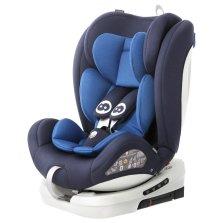 路途乐路路熊AIR V 0-12岁儿童汽车安全座椅 isofix软接口 360°旋转【摩洛蓝】