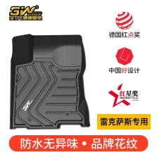 3W 全TPE脚垫雷克萨斯ES RX NX CT GS专车专用无异味健康脚垫【GS黑色】