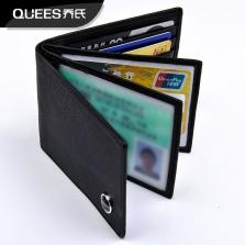 乔氏 真皮驾驶证皮套 超薄证件卡包 QS-JSZT 多层【黑色】自营