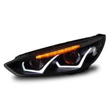【免费安装】龙鼎15-18款福克斯氙气大灯总成 改装双光透镜LED日行灯 带雪莱特球泡+雪莱特安定器【一对】