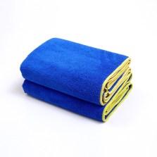 途虎定制 洗车毛巾强吸水大毛巾车用细纤维加厚不易掉毛擦车巾 大号 45*120cm【2条装】